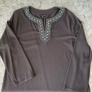 Anne Klein Beaded Blouse